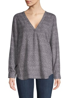 Joie Pleated Long-Sleeve Top