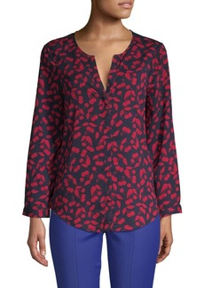 Joie Printed Long-Sleeve Top
