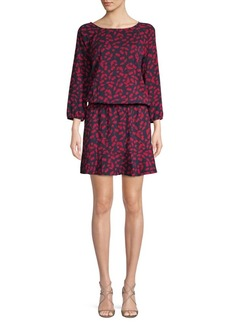 Joie Printed Three-Quarter-Sleeve Dress