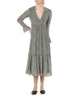 Joie Provence Long-Sleeve Silk Dress