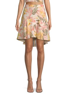Joie Radhiya Floral Flounce Skirt