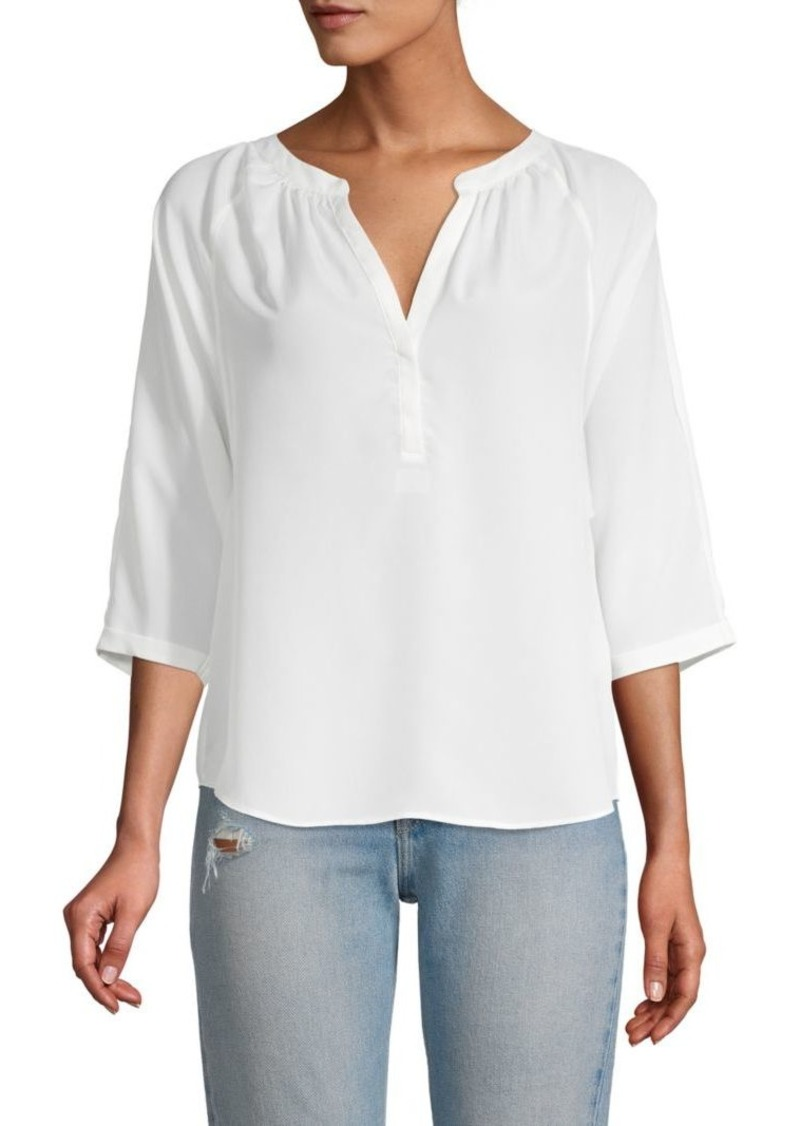 Joie Raglan-Sleeve Pleated Top