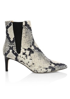Joie Ralti Snakeskin-Embossed Leather Ankle Boots