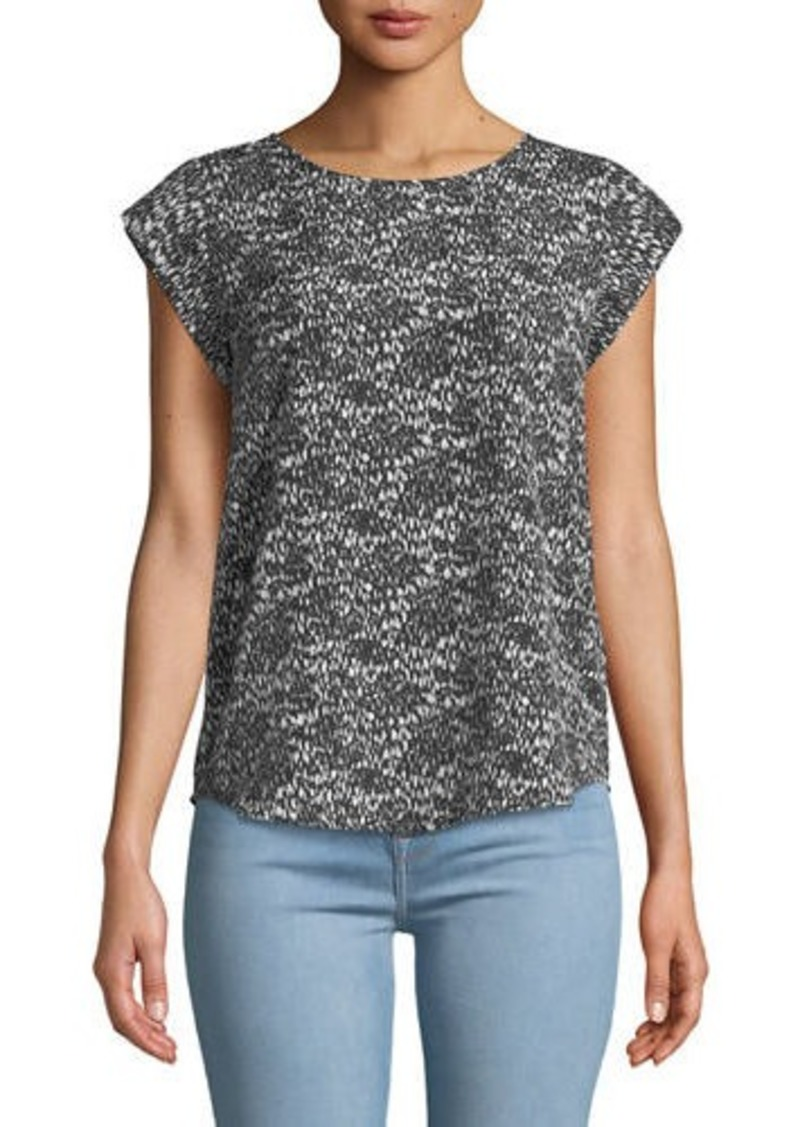 Joie Rancher Cap-Sleeve Printed Blouse