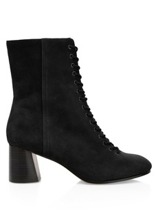 Joie Reyan Lace-Up Suede Ankle Boots