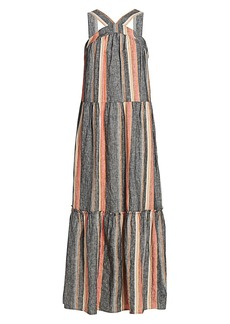 Joie Rosabel Striped Maxi Dress