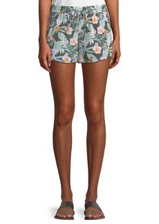 Joie Sabia Floral Silk Drawstring Shorts