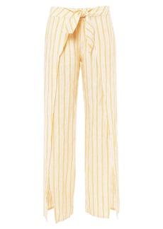Joie Sahira Tie-Front Linen Pants