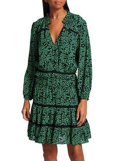 Joie Salama Leaf-Print Blouson Dress