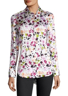 Joie Silk Floral-Print Blouse