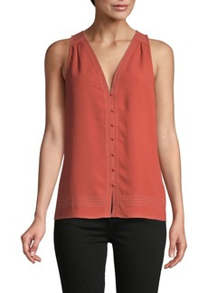 Joie Smocked-Back Sleeveless Top