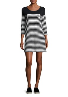 Soft Joie Alyce Striped 3/4-Sleeve T-Shirt Dress