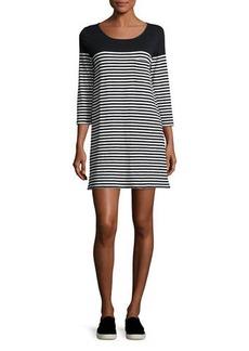 Soft Joie Alyce Striped 3/4-Sleeve T-Shirt Dress