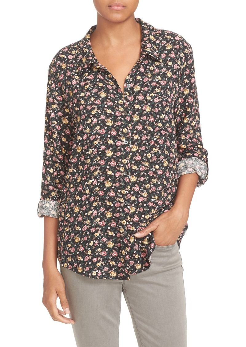 Soft Joie 'Anabella' Floral Print Roll Sleeve Blouse