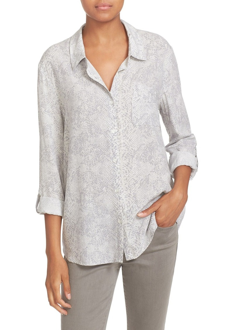 Soft Joie 'Anabella' Snake Print Roll Sleeve Blouse