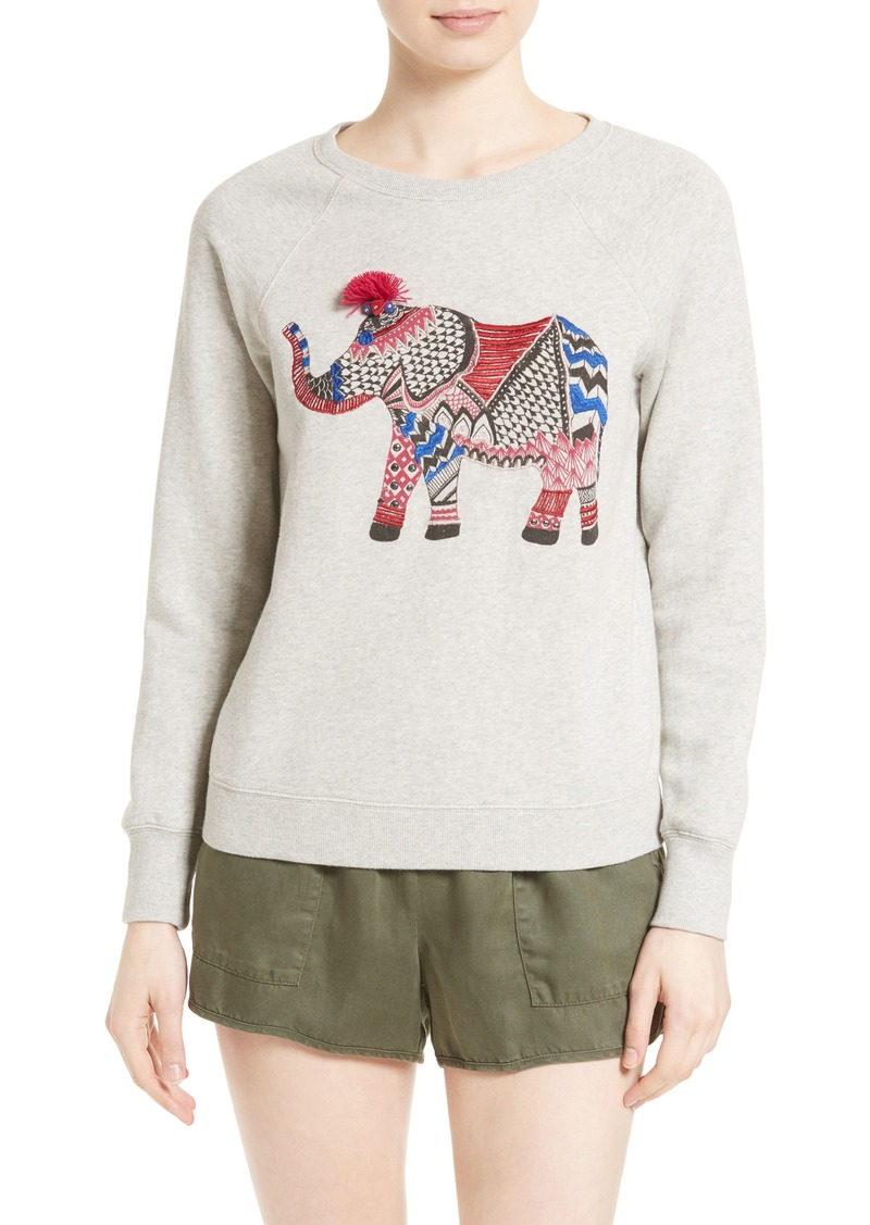6a1237e2b82329 On Sale today! Joie Soft Joie Annora Embroidered Elephant Sweatshirt
