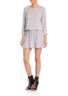 Joie Soft Joie Arryn Lattice-Print Blouson Dress