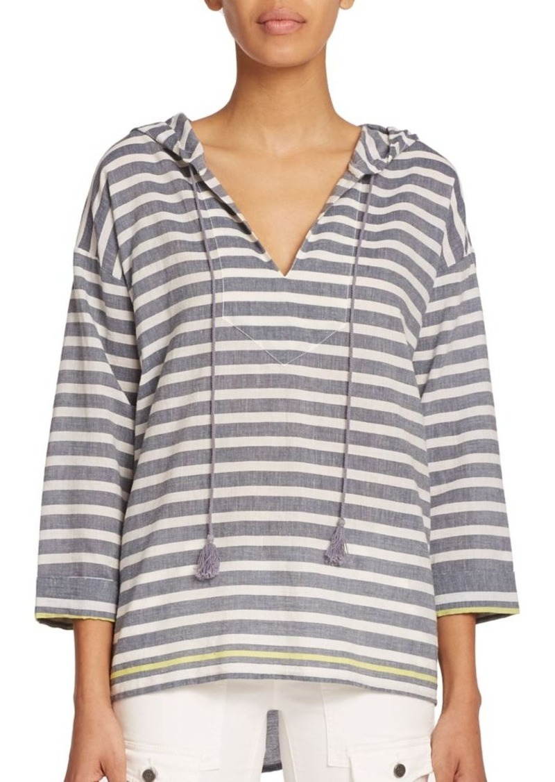 Soft Joie Baja Striped Hooded Pullover