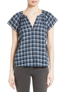 Soft Joie Corla Plaid Top