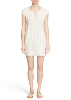 Soft Joie 'Dalenna' Lace Trim Pintuck Pleat Shift Dress