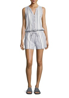 Soft Joie Danijel Sleeveless Striped Cotton Romper