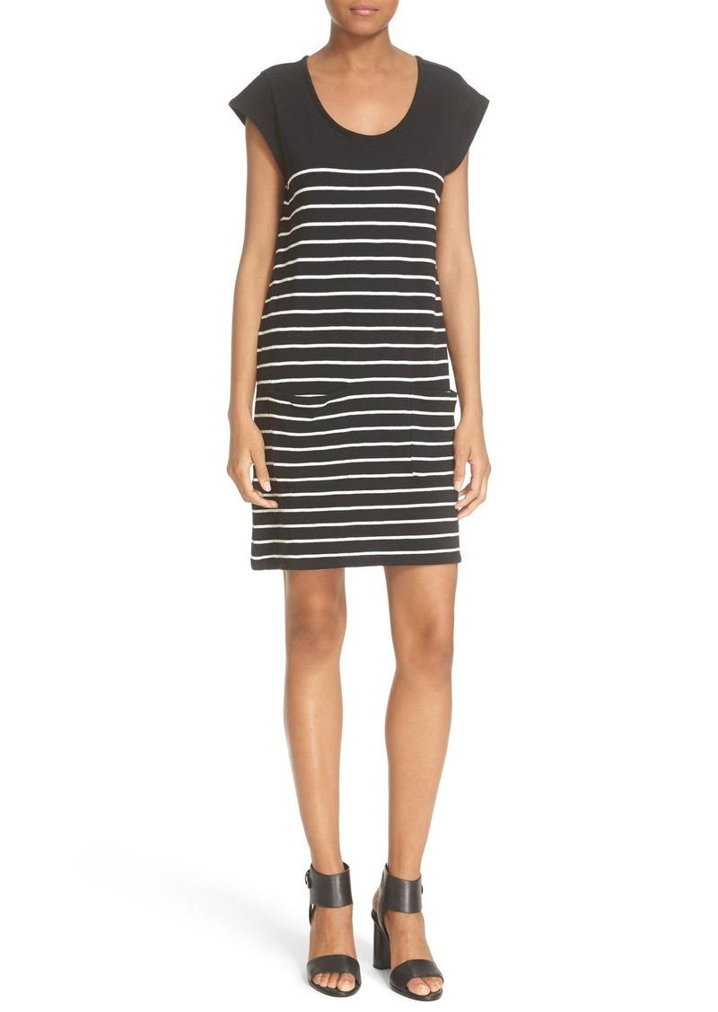 Soft Joie 'Kaelem' Stripe Cotton T-Shirt Dress