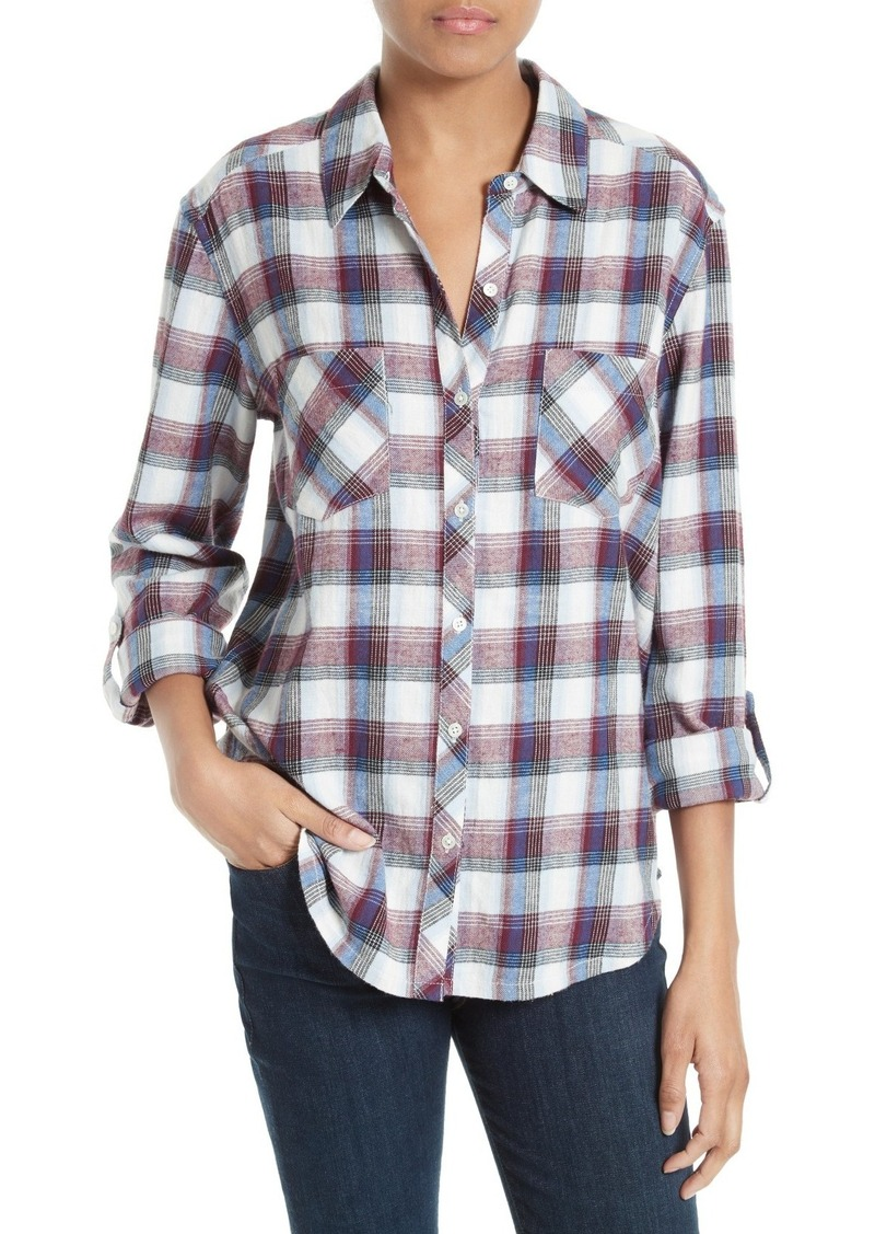Joie soft joie lilya plaid cotton shirt casual shirts for Soft joie plaid shirt