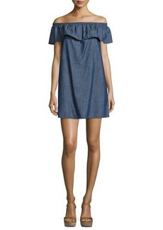 Soft Joie Nilima Off-The-Shoulder Chambray Dress