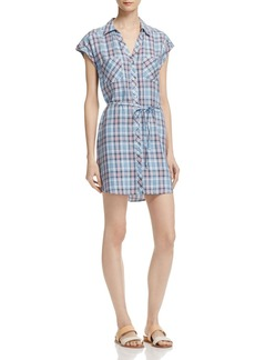 Soft Joie Safia Belted Plaid Shirt Dress