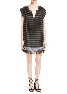 Soft Joie Santalina Stripe Cotton Voile Swing Dress
