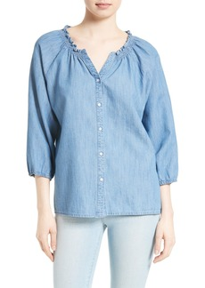 Soft Joie Scarlina Chambray Blouse