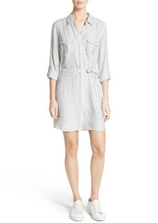 Soft Joie Wila B Belted Stripe Shirtdress