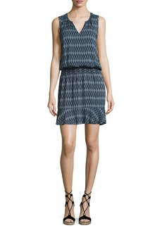 Soft Joie Zealana Split-Neck Sleeveless Mini Dress