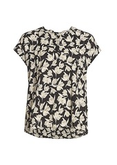 Joie Solace Printed Short-Sleeve Blouse