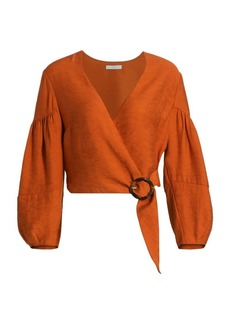 Joie Sophinana Wrap Blouse