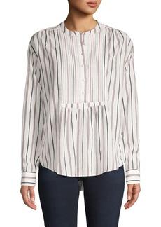 Joie Stripe Cotton-Blend Top