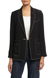 Joie Tabora Contrast-Stitched Jacket