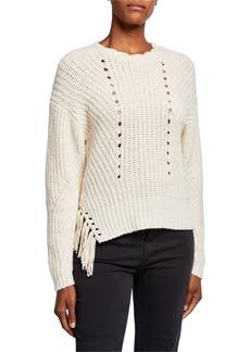 Joie Taelar Fringe Sweater