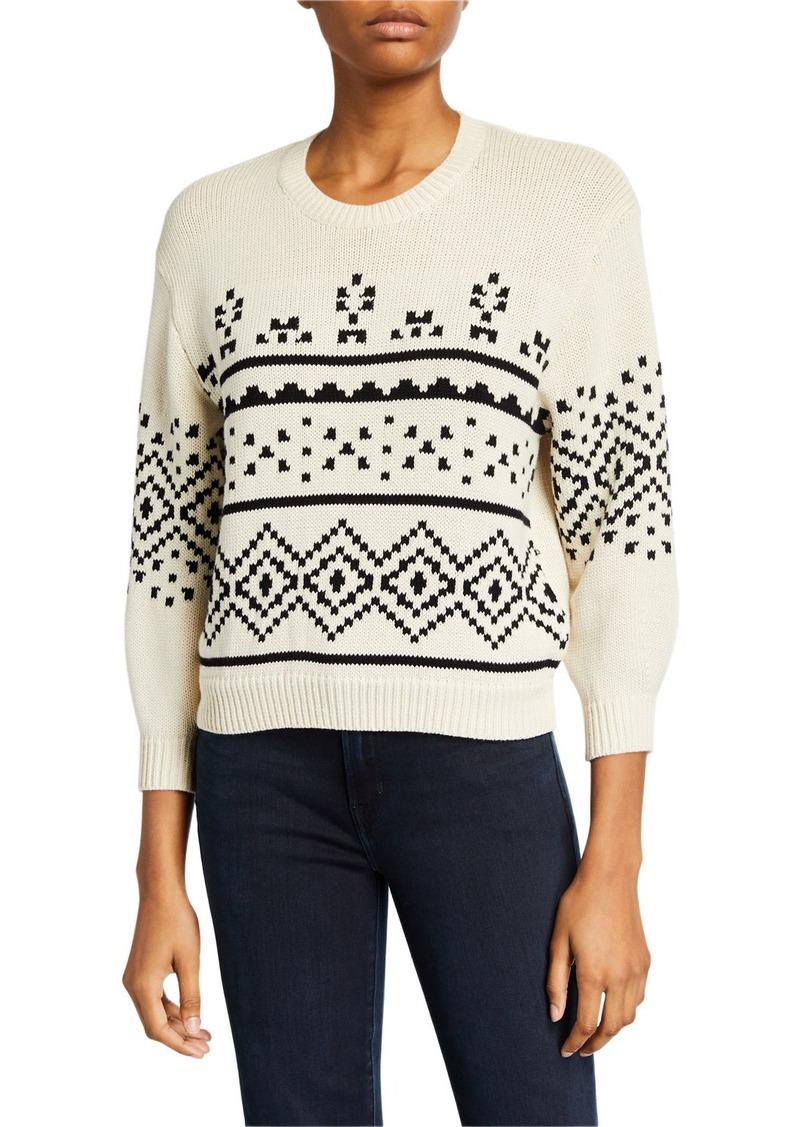 Joie Talena Crewneck 3/4-Sleeve Sweater
