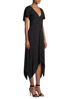 Joie Tamrya Polka-Dot Midi Dress