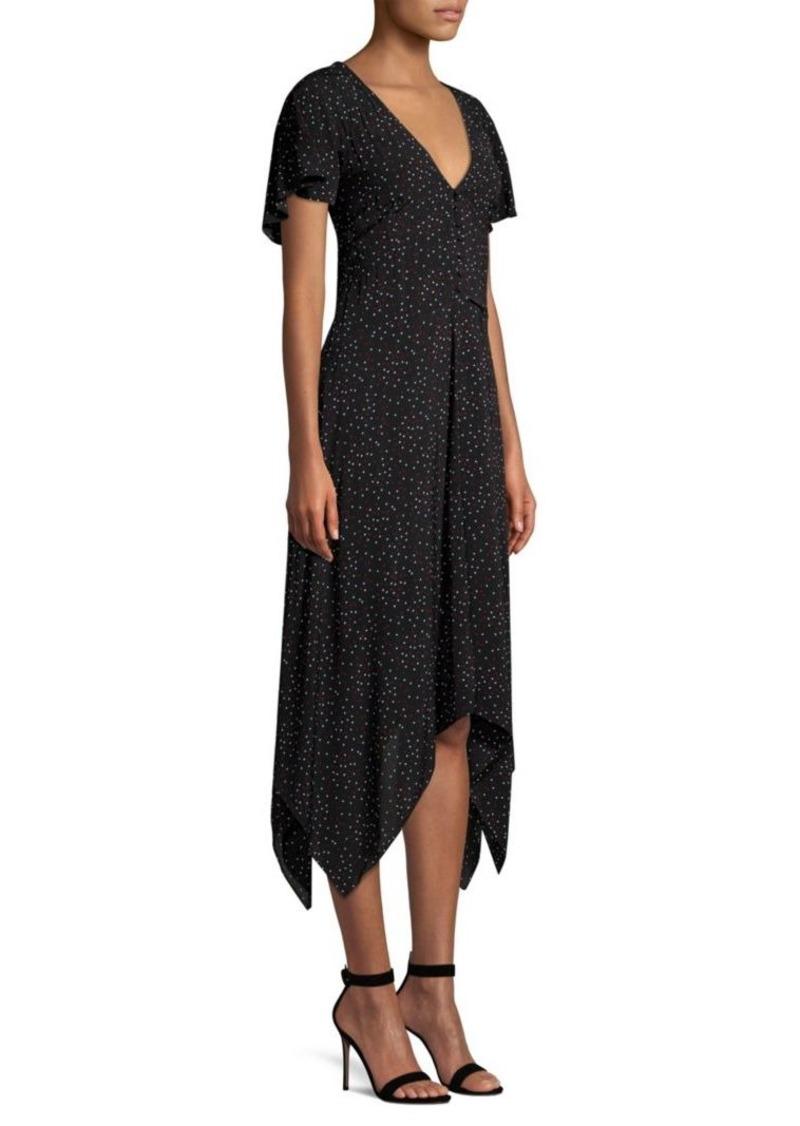 Joie Tamrya Polka-Dot Midi Dress