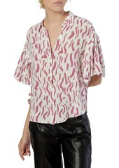 Joie Taormina Printed Silk Shirt