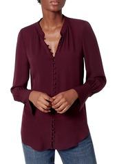 Joie Tariana Button-Up Silk Blouse