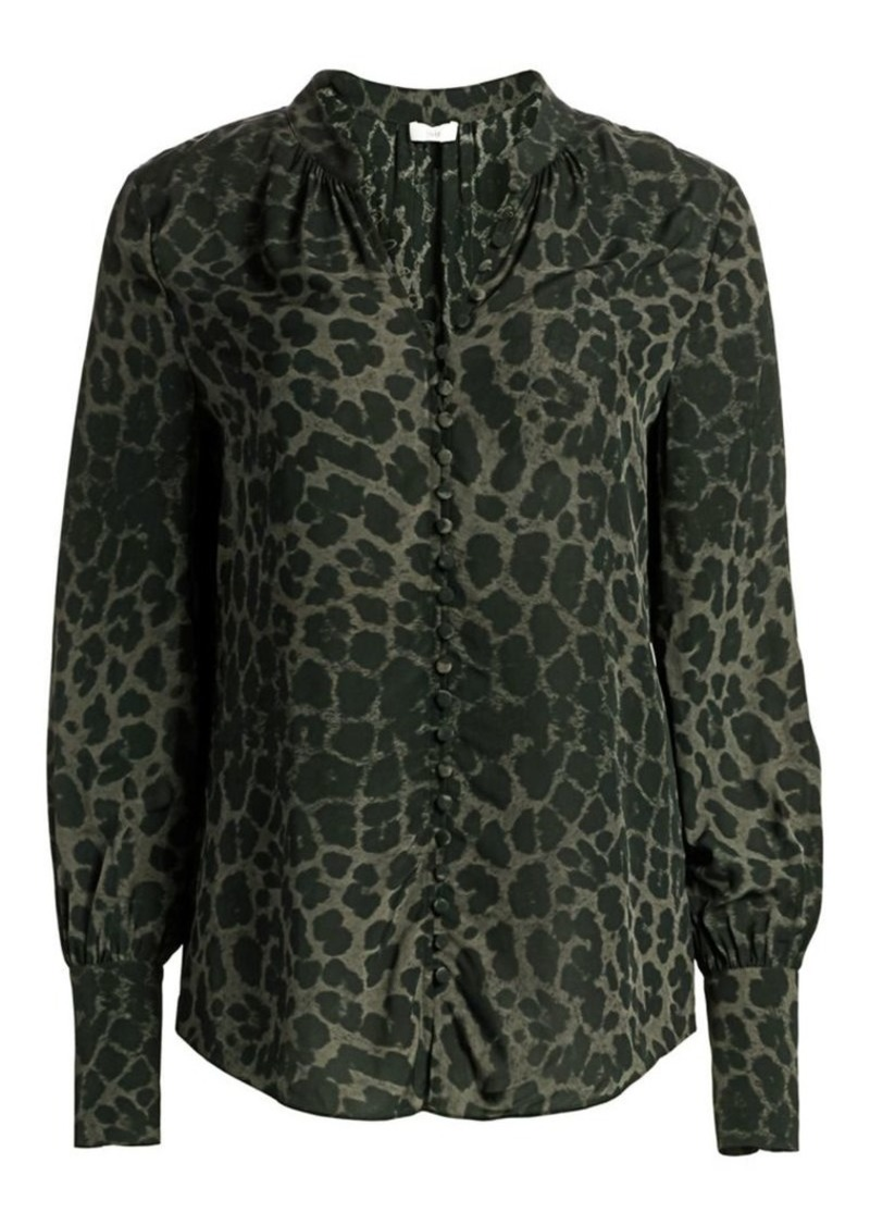 Joie Tariana Leopard-Print Blouse