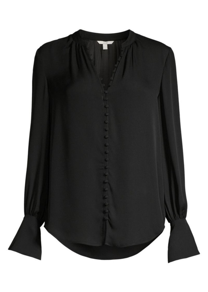 Joie Tariana Silk Covered Button Blouse