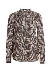 Joie Tariana Zebra Print Blouse