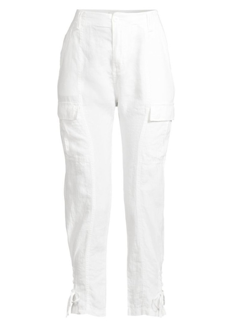Joie Telutci Lace-Up Linen Cargo Pants