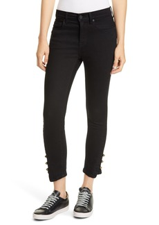 Joie Tiesa Button Cuff Step Hem Jeans