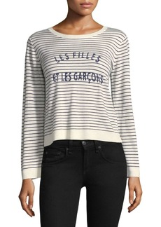 Joie Verbina Striped Crewneck Sweater