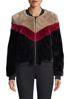 Joie Vesna Faux Fur Bomber Jacket